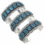 Blue Turquoise Nugget Silver Bracelets 22405