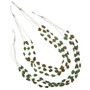 Turquoise Nugget Heishi Necklace 29542