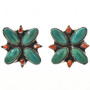 Turquoise Spiny Oyster Earrings 29158