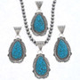 Turquoise Silver Pendant  25282