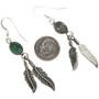 Navajo Feather Dangle Earrings 29402