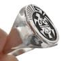 Turtle Totem Sterling Mens Ring 29702