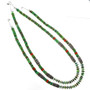 Turquoise Coral Overlaid Silver Necklace 29587