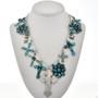 Navajo Turquoise Silver Navajo Necklace 29241