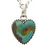 Native American Turquoise Heart Pendant 29815