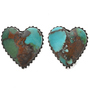 Southwest Turquoise Heart Post Earrings 29815