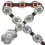 Navajo Turquoise Sterling Concho Belt 29826