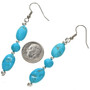 Turquoise Silver Navajo French Hook Earring 29823