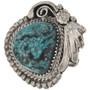 Genuine Turquoise Silver Ladies Ring 28942