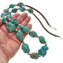 Chunky Turquoise Magnesite Necklace 29868