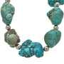 Silver Turquoise Beaded Native American Necklace 29868