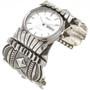 Vintage Hammered Sterling Navajo Watch 29890