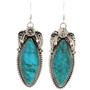 Navajo Kings Manassa Turquoise French Hook Earrings 29897