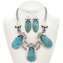 Navajo Turquoise Necklace Set 29897