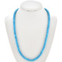 Blue 8mm Turquoise Round Bead Navajo Necklace 29899