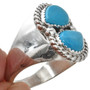 Turquoise Silver Navajo Ring 29951