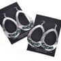 Green Malachite Silver Navajo Earrings French Hooks 29992