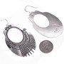 Overlaid Silver Navajo Design French Hooks Earrings 30005