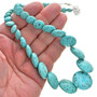 Turquoise Beaded Affordable Ladies Necklace  30033