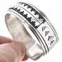 Navajo Overlaid Silver Cuff Bracelet 30206
