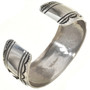 Navajo Artists Tommy Rose Singer Handmade Silver Cuff 30044