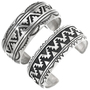 Navajo Geometric Pattern Sterling Silver Bracelet 30045