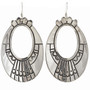 Silver Hand Stamped Navajo Earrings French Hook 30052