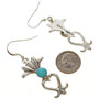 Navajo Turquoise Silver Earrings 30061