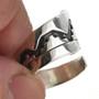 Navajo Silver Bypass Ring 30107