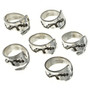Silver Bypass Ring Adjustable Sizes 4 to 6 30111