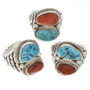 Turquoise Coral Mens Ring 30126