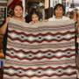Navajo Rug Weaver Glorilene Harrison and Family 30086