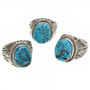 Blue Turquoise Silver Rings 30130