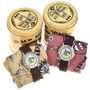 American Indian Themed Leather Band Watch 90993
