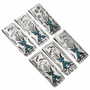 Chip Inlay Turquoise Money Clip 30161