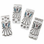 Inlaid Native American Turquoise Money Clips 22837