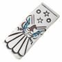 Peyote Bird Silver Turquoise Money Clip 22837