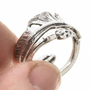 Sterling Silver Ladies Adjustable Ring 30169