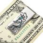 Kokopelli Silver Turquoise Dollar Clip 30170