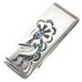Inlaid Turquoise Kokopelli Money Clip 30170