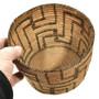Hand Woven Pima Fret Pattern Basket 30262