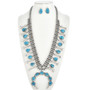Natural Turquoise Squash Blossom Necklace 30314
