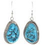 Turquoise Silver Drop Earrings 30314