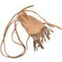 Leather Indian Medicine Bag With Fringe and Strap  30373