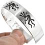 Kokopelli Cuff Sterling Unisex Bracelet 30430