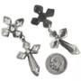 Silver Cross Western Earrings 30517