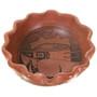 Native American Pottery Eagle Rain Patterns Fluted Rim 30548