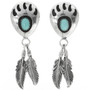 Turquoise Bear Paw Earrings 30637