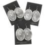 Large Silver Concho Western Style Earrings