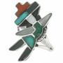 Old Pawn Zuni Rainbow Man Ladies Ring 30684
